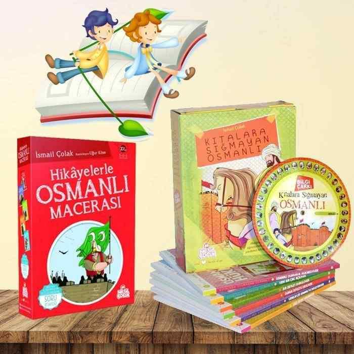Hikayelerle Kıtalara Sığmayan Osmanlı Macerası - 2 set birden tam 11 kitap (Bilgi Çarkı Hediyeli)