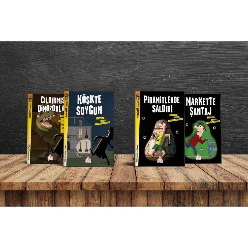 Dedektif Sensin Kitap Seti (7 - 12 Yaş) - 4 kitap 30 lira yerine 21 lira
