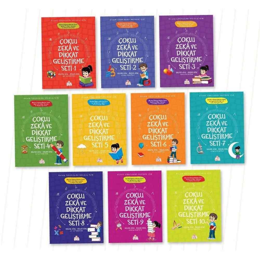 ÇOKLU ZEKA VE DİKKAT GELİŞTİRME SETİ / İlkokul öğrencileri için (7 yaş üzeri) - 10 kitap