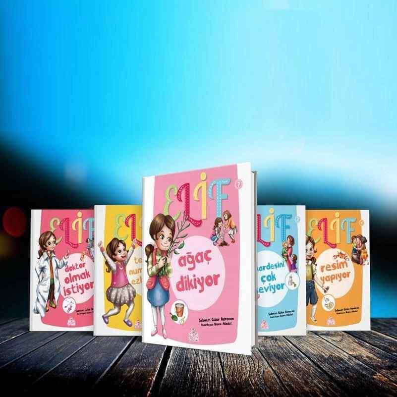 ELİF SERİSİ SOSYAL GELİŞİM SETİ (5 Kitap + 1 Etkinlik kitabı + Boy Grafiği + Davranış Çizelgesi) - 5 kitap (Okul Öncesi kitapları) 20 TL yerine 14 TL