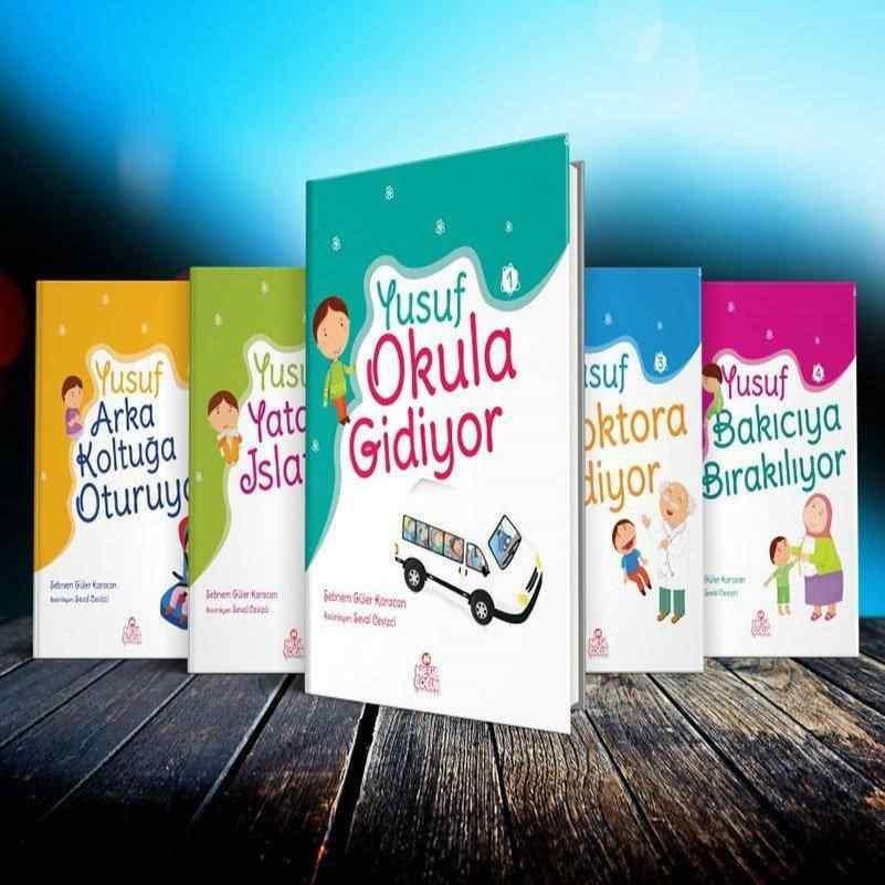YUSUF SERİSİ SOSYAL GELİŞİM SETİ (5 Kitap + 1 Etkinlik kitabı + Boy Grafiği + Davranış Çizelgesi) - 5 kitap (Okul Öncesi kitapları) 20 TL yerine 14 TL