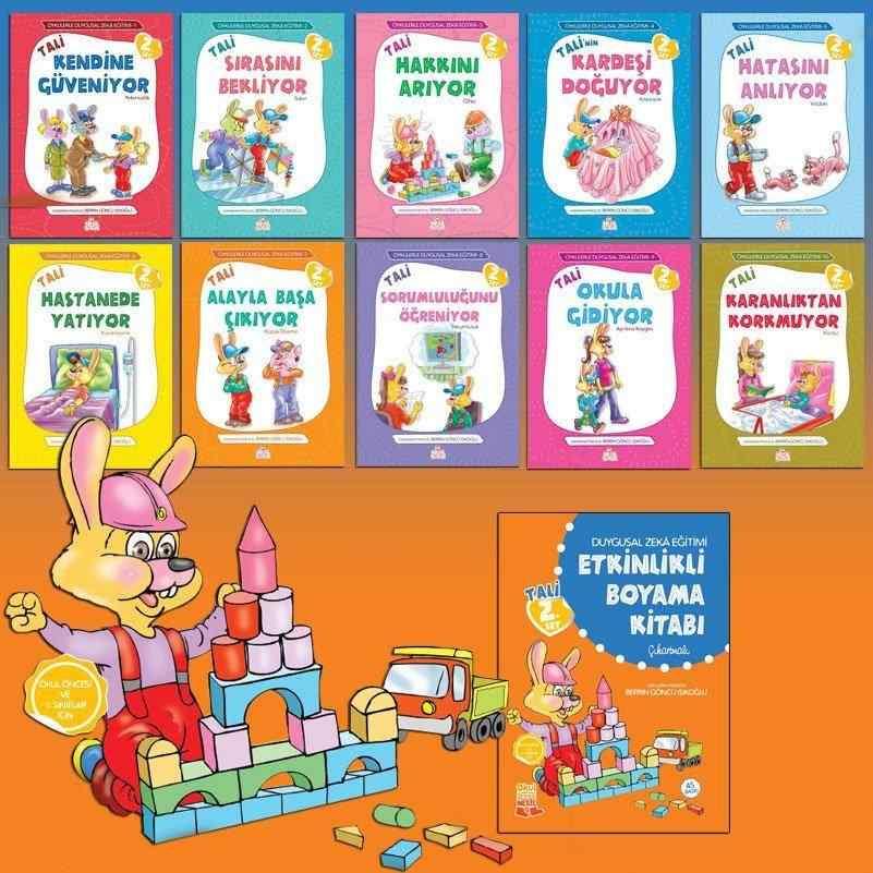 Öykülerle Duygusal Zeka Eğitimi Serisi Tali 2. Set (3-7 Yaş) + Etkinlikli Boyama Kitabı - 10 kitap 60 TL yerine 42 TL