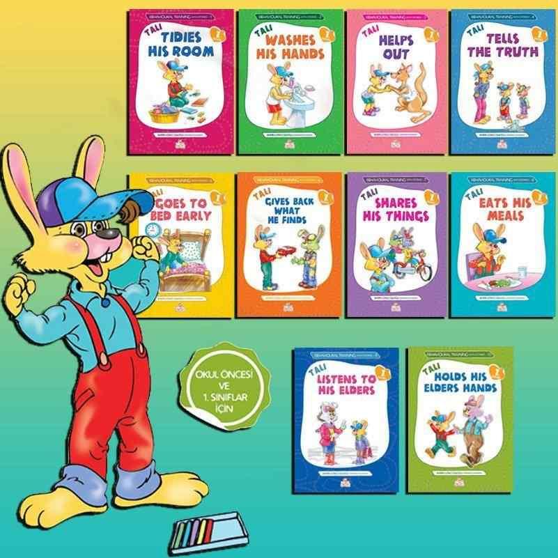 TALİ -1 ( İngilizce ) - Behavioural Training With Stories (Öykülerle Davranış Eğitimi Seti) - (Okul öncesi ve 1. sınıflar) - 10 kitap 40 TL yerine 35 TL