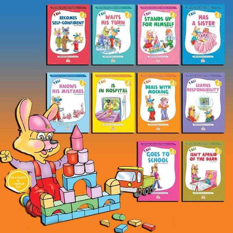 TALİ -2 ( İngilizce ) - Emotional Intelligence Training With Stories (Öykülerle Duygusal Zeka Eğitimi Seti) - (Okul öncesi ve 1. sınıflar) - 10 kitap 40 TL yerine 25 TL