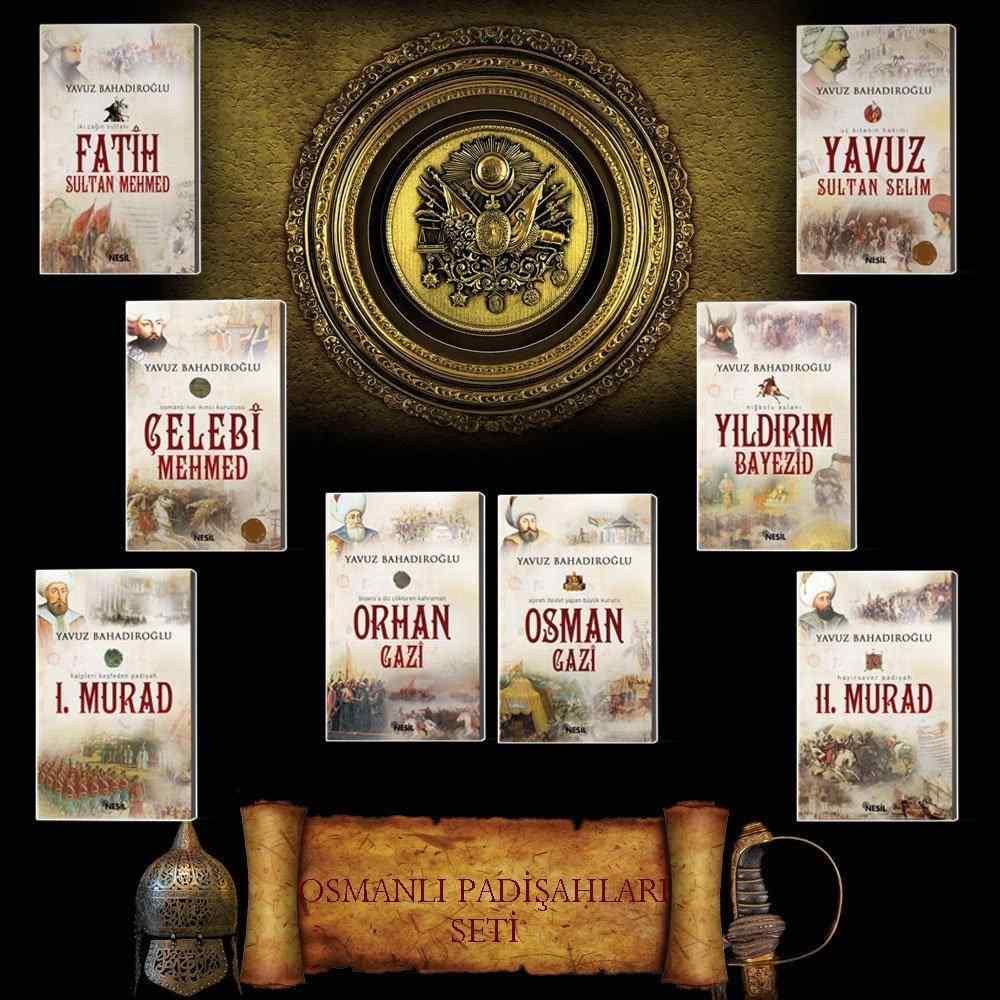 Osmanlı Padişahları Seti - Yavuz Bahadıroğlu - 9 Kitap