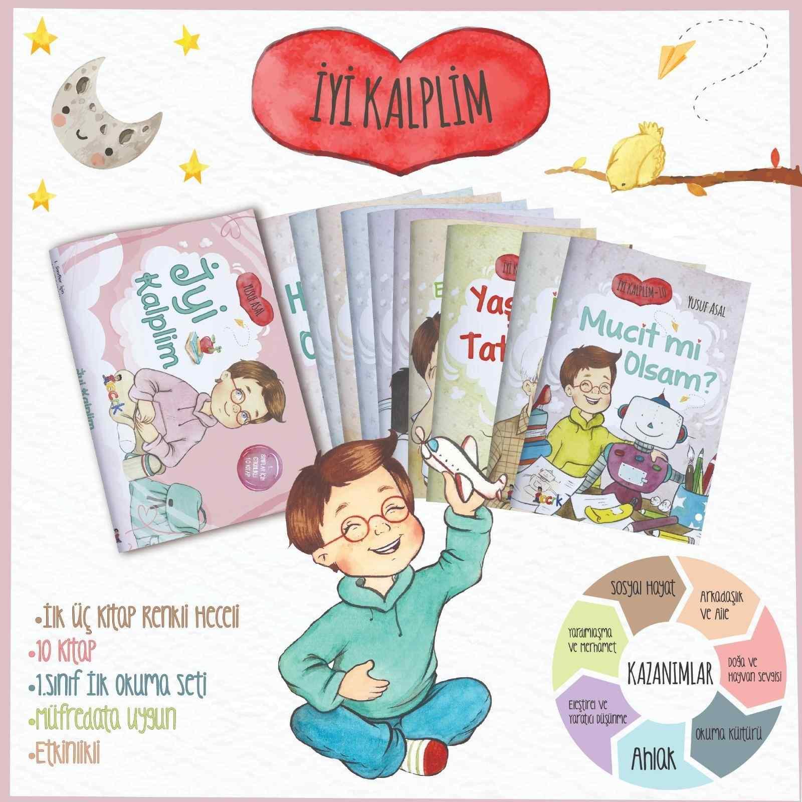 İyi Kalplim 10 kitap 1.sınıflar için
