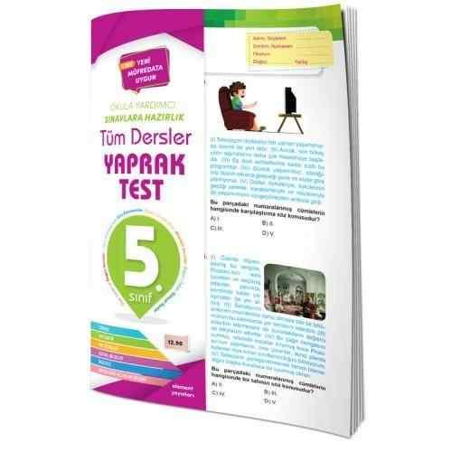 Element Tüm Dersler Yaprak Test 5.Sınıf