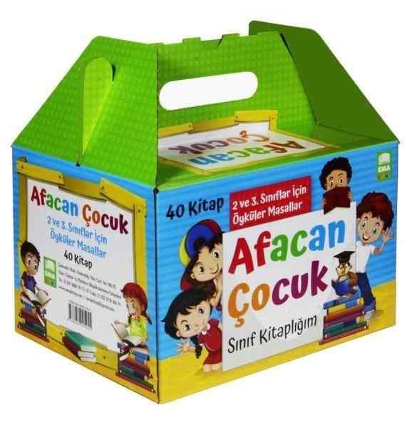 Afacan Çocuk Sınıf Kitaplığı Seti (40 Kitap Takım) (2. ve 3. Sınıflar İçin)