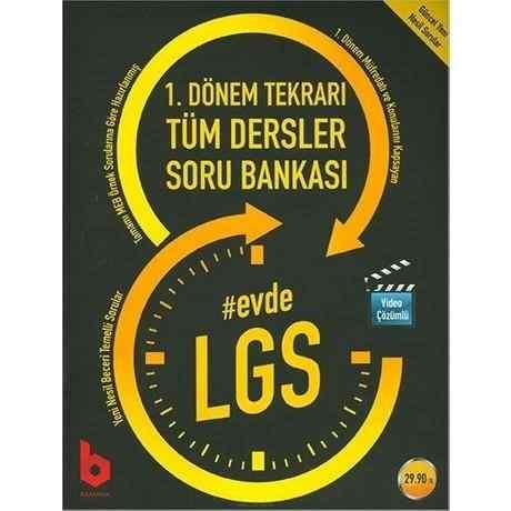 Evde LGS 1.Dönem Tekrarı Tüm Dersler Soru Bankası Basamak Yayınları