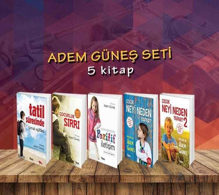 ADEM GÜNEŞ kitapları seti - 5 kitap