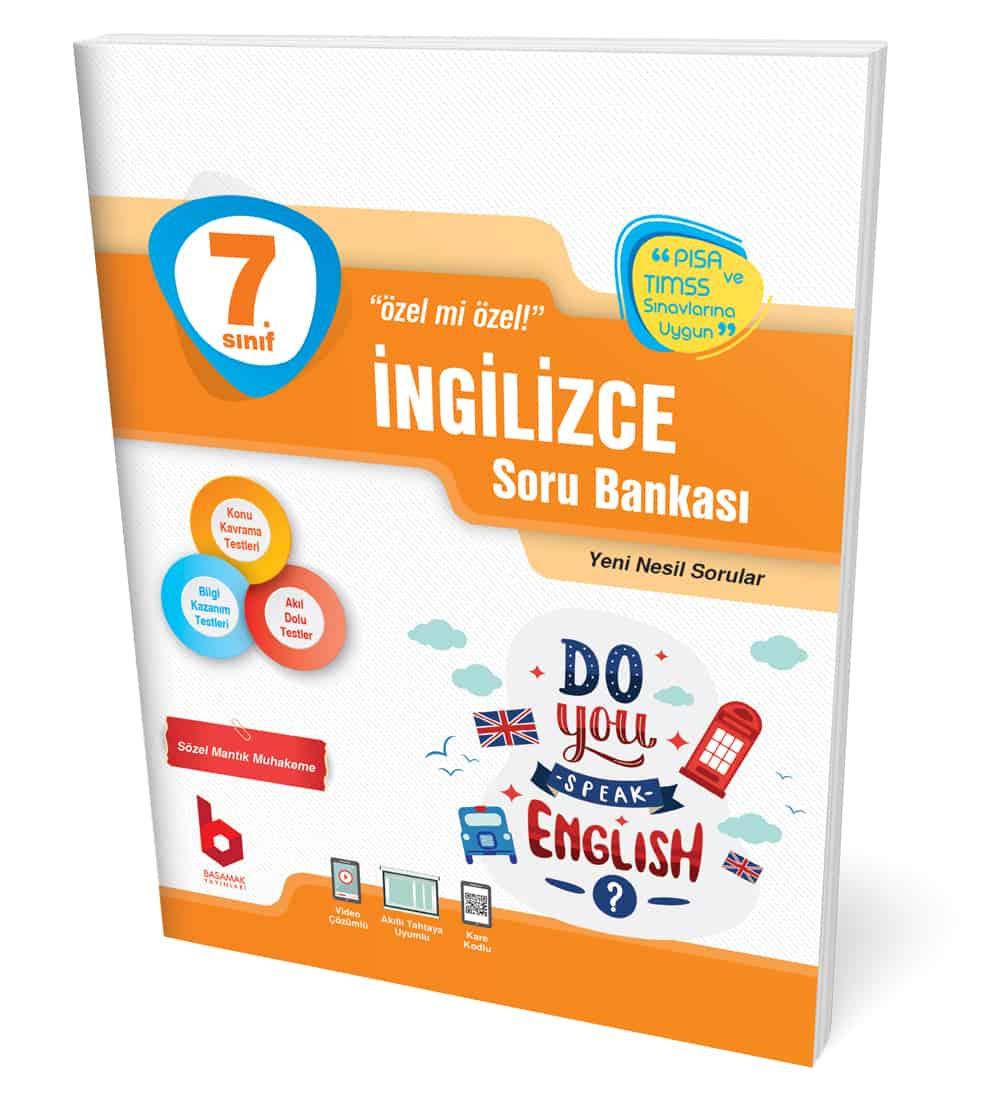 7. Sınıf İngilizce Soru Bankası Basamak Yayınları