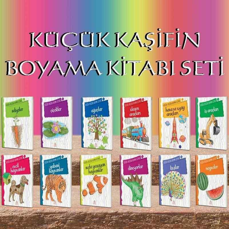 Küçük Kaşifin Boyama Kitabi Seti Okul öncesi Ve 1 Siniflar Için